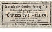 50 Heller (Pupping) -  obverse