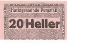 20 Heller (Purgstall) – obverse