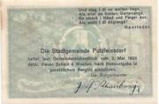 50 Heller (Putzleinsdorf) -  reverse