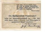 20 Heller (Putzleinsdorf) -  reverse