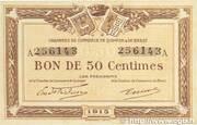 50 centimes - Chambres de Commerce de Quimper et de Brest (29) – obverse