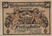 50 Heller (Rabensburg) – obverse