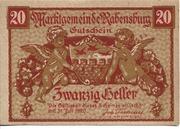 20 Heller (Rabensburg) – obverse