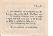 10 Heller (Rabenstein) – reverse
