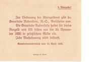 50 Heller (Rabenstein) – reverse