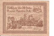 20 Heller (Rabenstein) – obverse