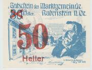 50 Heller Rabenstein(Orange) – obverse