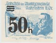 50 Heller Rabenstein (Noir) – obverse