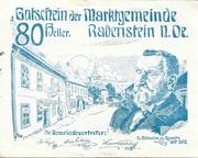 80 Heller (Rabenstein) – obverse