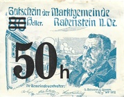 50 Heller (Rabenstein) – obverse