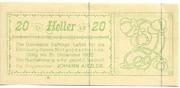 20 Heller (Raffings) – obverse