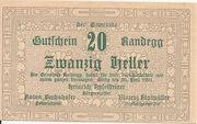 20 Heller (Randegg) – obverse