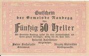 50 Heller (Randegg) – obverse