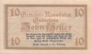 10 Heller (Ranshofen) -  obverse