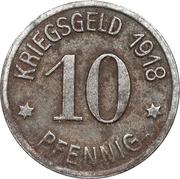 10 Pfennig - Ratibor – reverse