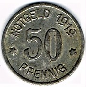 50 Pfennig - Ratibor – reverse