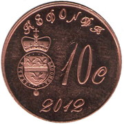 10 Cents (100th Anniversary of the Titanic) – obverse
