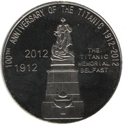 50 Cents (100th Anniversary of the Titanic) – reverse