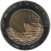 1 Dollar (100th Anniversary of the Titanic) – reverse