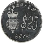 25 Dollars (100th Anniversary of the Titanic) – obverse