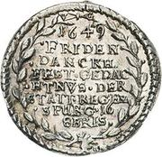 1 Ducat (Silver pattern strike; Peace of Westphalia) – reverse