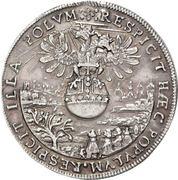 4 Ducat (Silver pattern strike; Imperial enthronement) – reverse