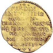 1 Ducat - Ferdinand III. (Coronation) – reverse