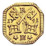 1 Heller (Uniface gold pattern strike) – obverse