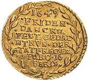 1 Ducat (Peace of Westphalia) – reverse