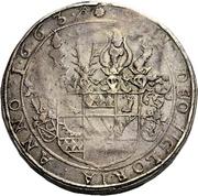 2 Thaler - Johann Erasmus von Tattenbach – reverse