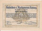 50 Heller (Rehberg) – reverse