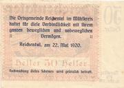 50 Heller (Reichental im Mühlkreis) -  reverse