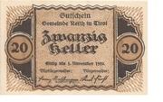 20 Heller (Reith) -  obverse