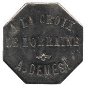 10 Centimes - A la Croix de Lorraine A. Demesy (Remiremont) – obverse