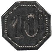 10 Centimes - A la Croix de Lorraine A. Demesy (Remiremont) – reverse