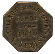 15 Centimes - Trianon Remiremont A. Demesy – obverse