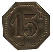 15 Centimes – reverse
