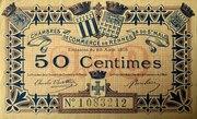 50 centimes - Chambres de Commerce de Rennes et de St Malo [35] – obverse
