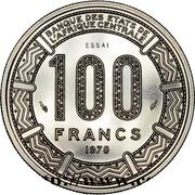 100 Francs CFA - Bokassa I (Essai) – reverse