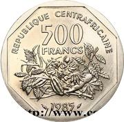 500 Francs CFA (Essai) – reverse