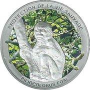 1000 Francs (Wildlife Protection - Piliocolobus Foai) – reverse