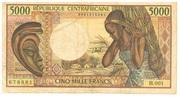 5000 Francs -  obverse