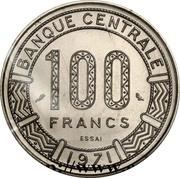 100 Francs CFA (Essai) – reverse