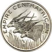 100 Francs CFA - Bokassa I (Essai) – obverse