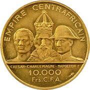 10 000 Francs CFA - Bokassa I (Essai) – reverse