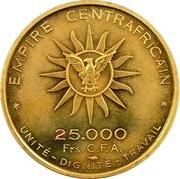 25 000 Francs CFA  - Bokassa I (Essai) – reverse