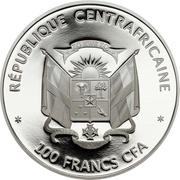 100 Francs CFA (Blue Whale) – obverse