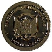 1000 Francs CFA (Louis XIV) – obverse