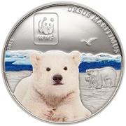 100 Francs CFA (Polar Bear) – reverse
