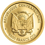1000 Francs CFA (Wildlife Protection - Piliocolobus Foai) – obverse